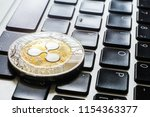 crypto ripple coin currency...   Shutterstock . vector #1154363377