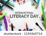 international literacy day.... | Shutterstock . vector #1154365714