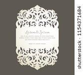 laser cut greeting card | Shutterstock .eps vector #1154371684