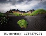 vestrahorn stockknes mountain... | Shutterstock . vector #1154379271
