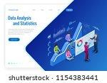 isometric web banner data...   Shutterstock .eps vector #1154383441