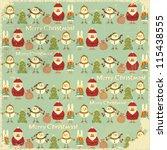christmas vintage background.... | Shutterstock .eps vector #115438555