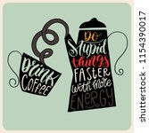 illustration with a coffee pot... | Shutterstock .eps vector #1154390017