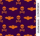 seamless background with skull... | Shutterstock .eps vector #1154393854