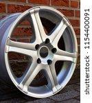 second hand alloy wheels in...   Shutterstock . vector #1154400091