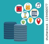 data center technology   Shutterstock .eps vector #1154400577