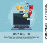 data center poster with... | Shutterstock .eps vector #1154401087