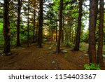 sunset in the high altitude... | Shutterstock . vector #1154403367