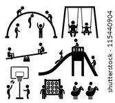 Children Playing At Playground...