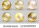 golden glass ball template. oil ... | Shutterstock .eps vector #1154409094