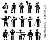 sportswear sports attire... | Shutterstock .eps vector #115441261