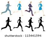 businesspeople | Shutterstock .eps vector #115441594