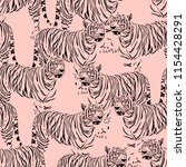 Abstract Tiger Seamless Pattern....