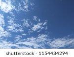 blue sky  clouds. cloudscape. | Shutterstock . vector #1154434294