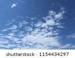 blue sky  clouds. cloudscape. | Shutterstock . vector #1154434297