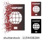 vector world passport icon in...   Shutterstock .eps vector #1154438284