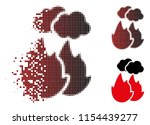 vector fire with smoke icon in...   Shutterstock .eps vector #1154439277