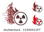 vector atomic fire icon in...   Shutterstock .eps vector #1154441197