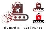 vector baggage conveyor icon in ... | Shutterstock .eps vector #1154441461