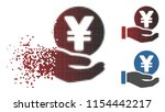vector yen coin payment hand...   Shutterstock .eps vector #1154442217