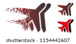 vector airplanes icon in...   Shutterstock .eps vector #1154442607