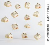 cup cakes floating on white... | Shutterstock . vector #1154444617
