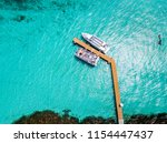 an aerial view of isla mujeres... | Shutterstock . vector #1154447437