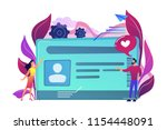 smart id card with photo and... | Shutterstock .eps vector #1154448091