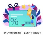 discount card with percent sign ... | Shutterstock .eps vector #1154448094