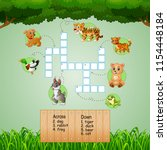 animal crossword puzzles for... | Shutterstock .eps vector #1154448184