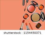 vector make up tool on white... | Shutterstock .eps vector #1154450371