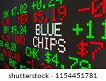 blue chips large companies... | Shutterstock . vector #1154451781