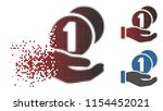 vector coins payment hand icon...   Shutterstock .eps vector #1154452021