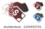 vector cash payment hand icon...   Shutterstock .eps vector #1154452741