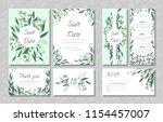 eucalyptus design. wedding... | Shutterstock .eps vector #1154457007