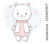 kitty cute print. sweet baby... | Shutterstock .eps vector #1154457877