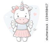 pony cute print. sweet baby... | Shutterstock .eps vector #1154458417