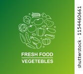vegetables banner with line... | Shutterstock .eps vector #1154460661