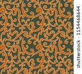 vector seamless fantasy pattern. | Shutterstock .eps vector #1154468644