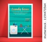 laundry service banner design | Shutterstock .eps vector #1154473564