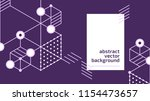 vector abstract boxes... | Shutterstock .eps vector #1154473657