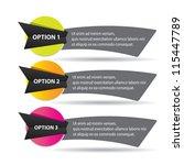 vector paper progress... | Shutterstock .eps vector #115447789