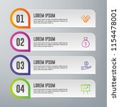 infographic elements template | Shutterstock .eps vector #1154478001