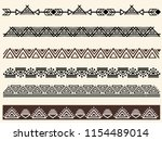 Ethnic Pattern. Set. Handmade....