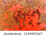 rust beige painted metal wall. | Shutterstock . vector #1154492167