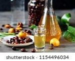 tincture alcoholic on bones... | Shutterstock . vector #1154496034