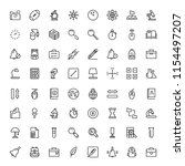 school accessories icon set.... | Shutterstock .eps vector #1154497207