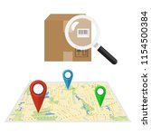parcel or order tracking... | Shutterstock .eps vector #1154500384