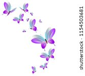 beautiful pink butterflies... | Shutterstock .eps vector #1154503681