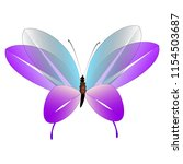beautiful pink butterflies... | Shutterstock .eps vector #1154503687